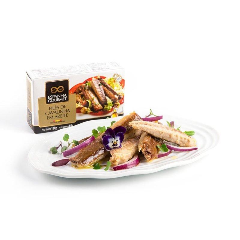 produtos gourmet delicatessen espanha azeitonas conservas pescado cavalinha azeite prato