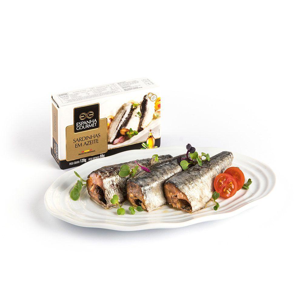produtos gourmet delicatessen espanha azeitonas conservas pescado cavalinha sardinhas azeite prato