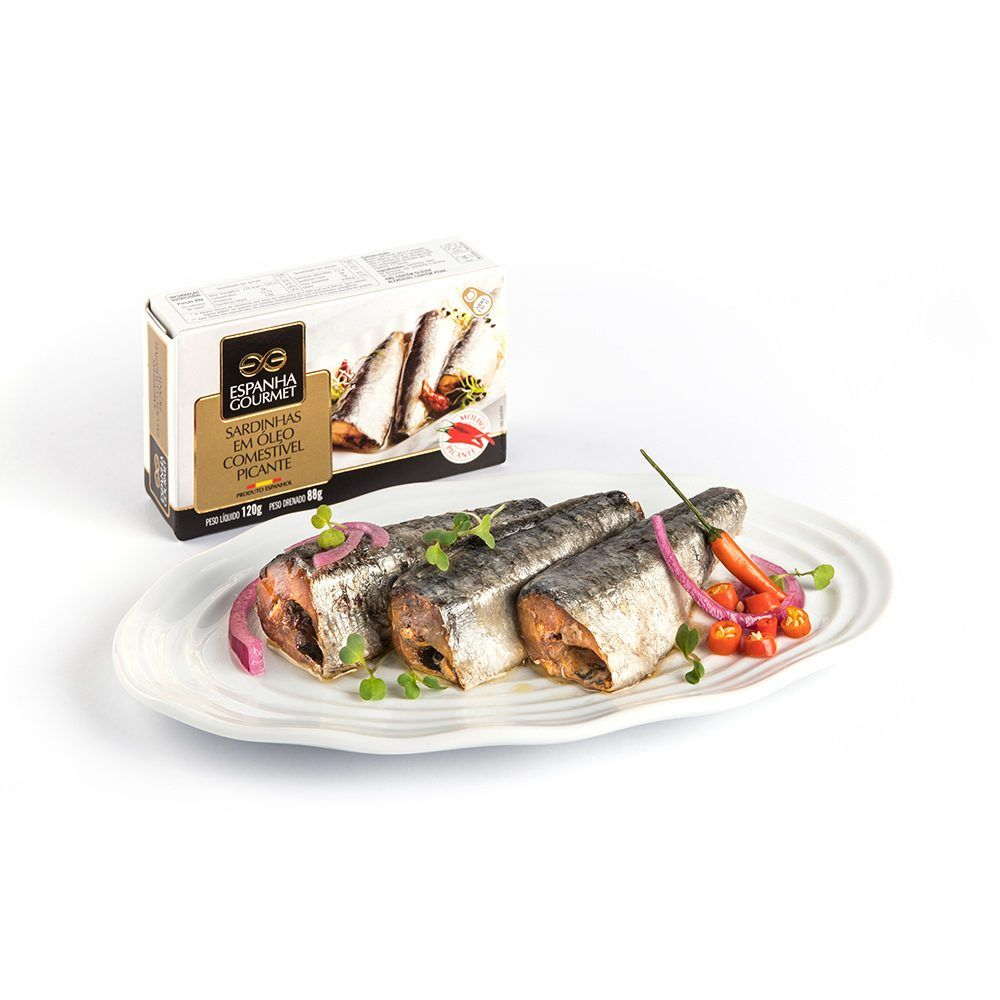 produtos gourmet delicatessen espanha azeitonas conservas pescado cavalinha sardinhas picantes prato