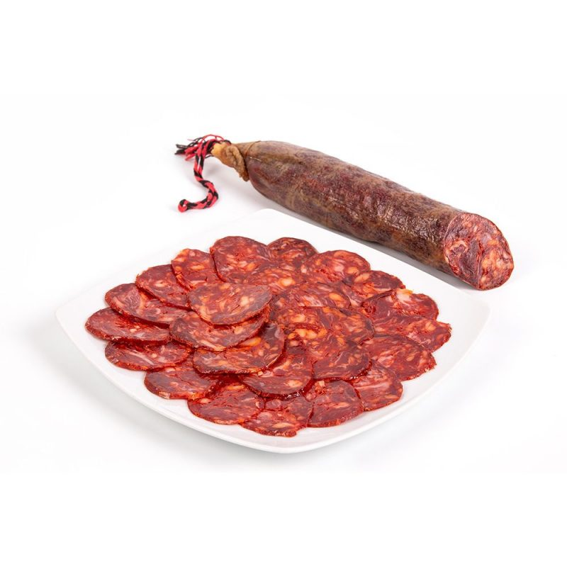 produtos gourmet delicatessen espanha presuntos embutidos chorizo iberico prato pieza
