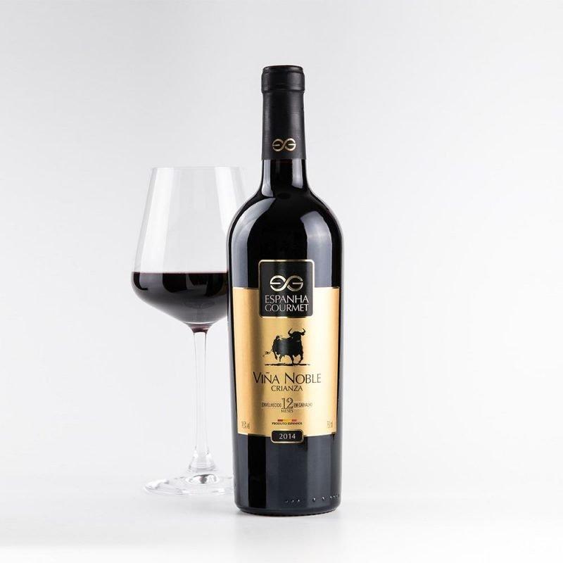 produtos gourmet delicatessen espanha vinhos viña noble crianza copa